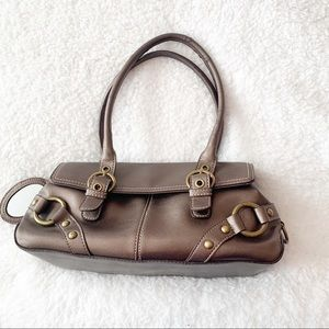 Nine West Bronze Brown Metallic Bag